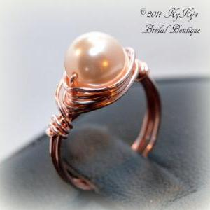 Bride and Bridesmaid Rose Gold Pear..